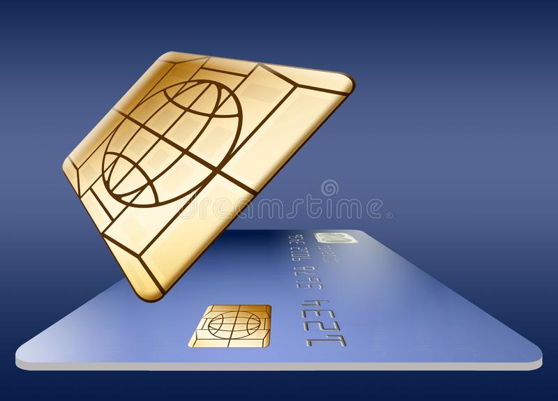 Обломок EMV на кредитной карточке бесплатная иллюстрация