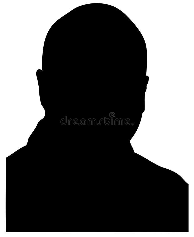 облыселый силуэт человека Стоковые Фотографии RF