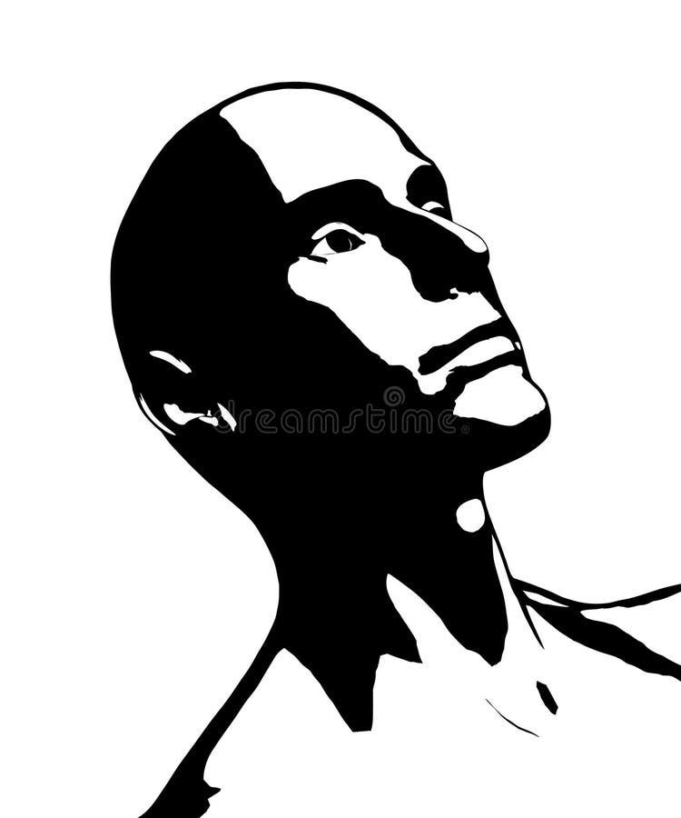 облыселый человек иллюстрация вектора