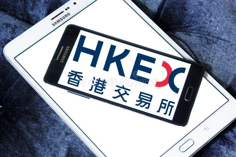 Обмены Гонконга и расчистка, логотип HKEX стоковые изображения rf