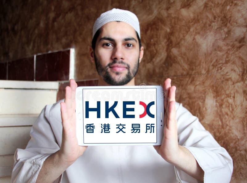 Обмены Гонконга и расчистка, логотип HKEX стоковое фото