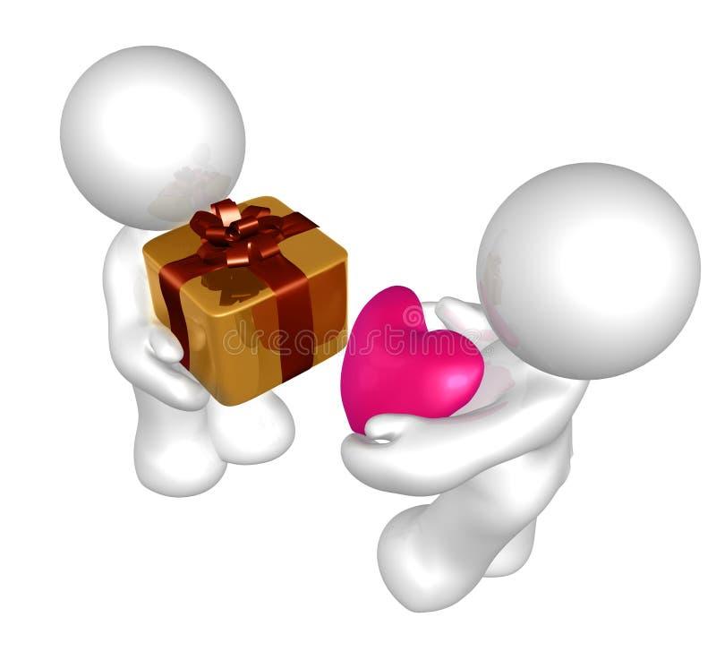 обменяйте сярприз подарка специальный иллюстрация вектора