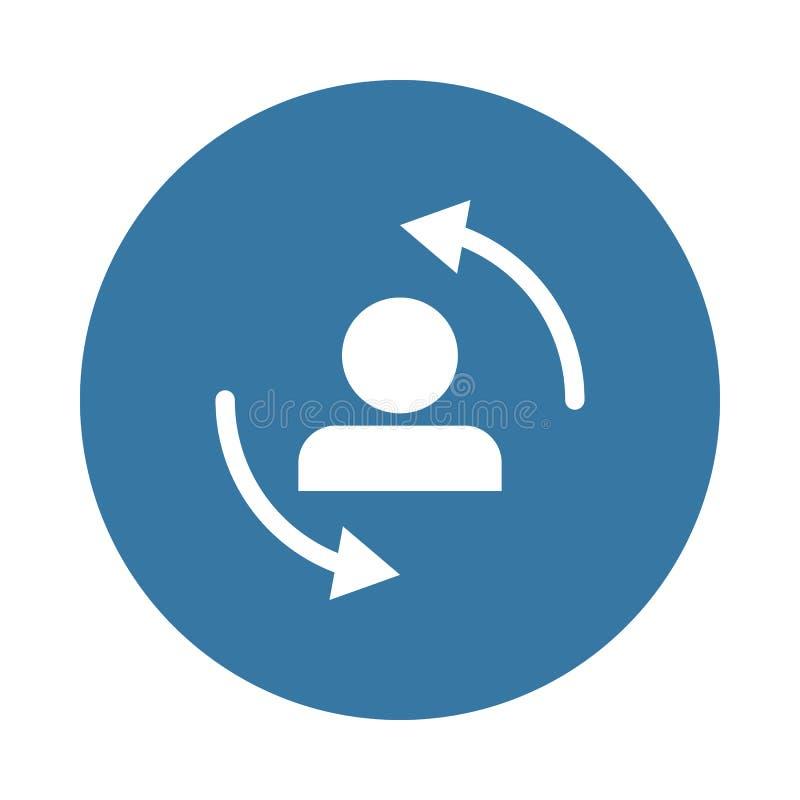обмен значка персонала в стиле значка бесплатная иллюстрация