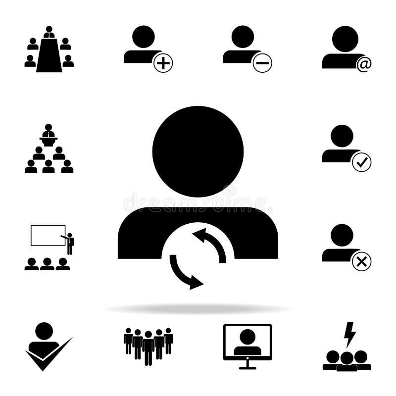 обмен значка персонала Комплект значков сыгранности всеобщий для сети и черни бесплатная иллюстрация