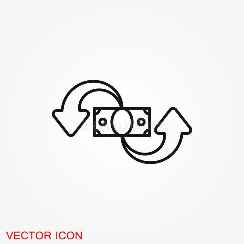 Обмен и значок новообращенного Логотип, иллюстрация, символ знака вектора иллюстрация вектора