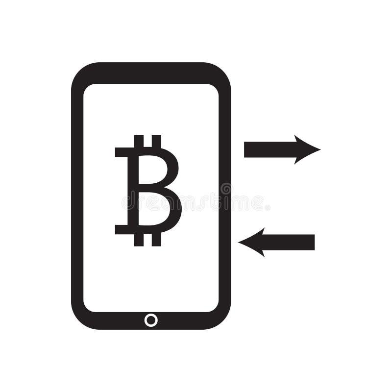 Обмен Bitcoin и значок телефона vector desing иллюстрация бесплатная иллюстрация