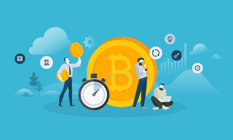 Обмен Bitcoin иллюстрация вектора