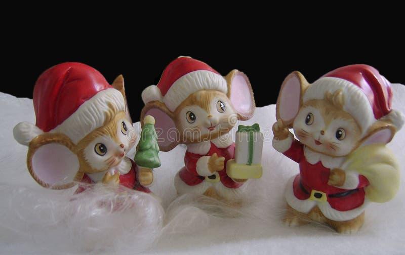 обмундирование santa мышей стоковая фотография rf