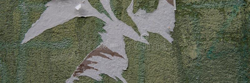 Обмылки бумаги на стене заштукатуренной цементом стоковое фото