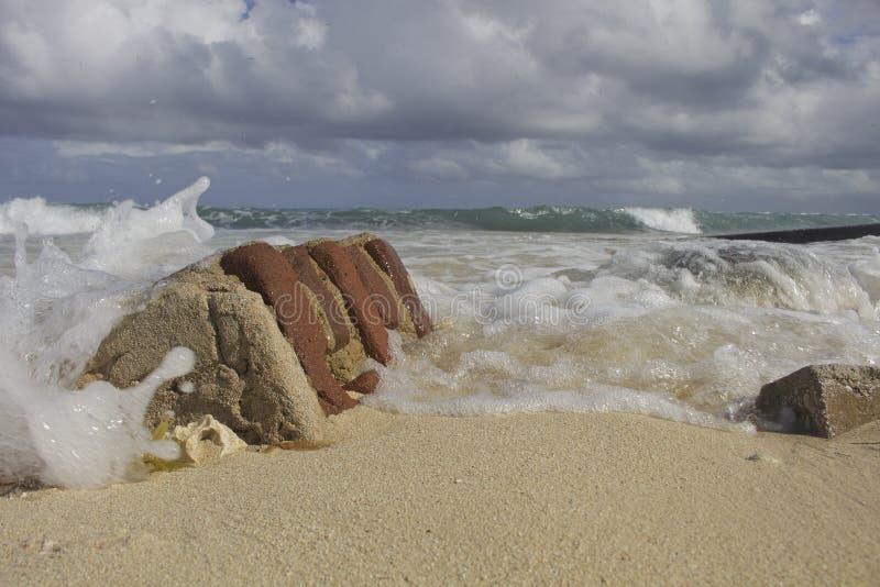 Обмылки Ирмы в Camaguey, Кубе стоковое фото rf