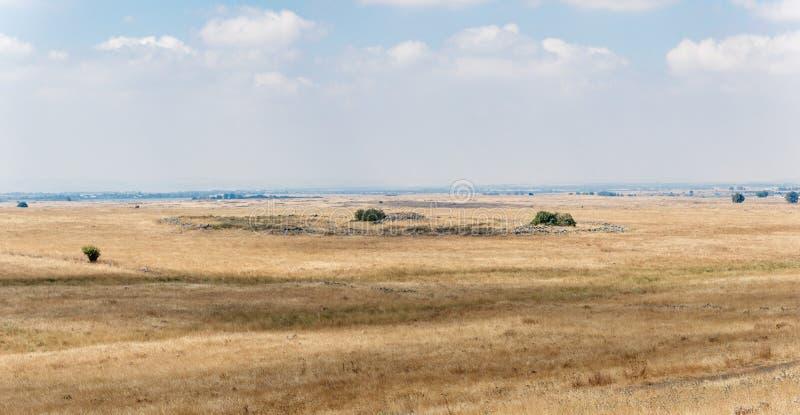 Обмылки megalithic комплекса предыдущего бронзового века - Колеса духов - al-Hiri Rujum - Gilgal Rephaeem - на Gol стоковые изображения