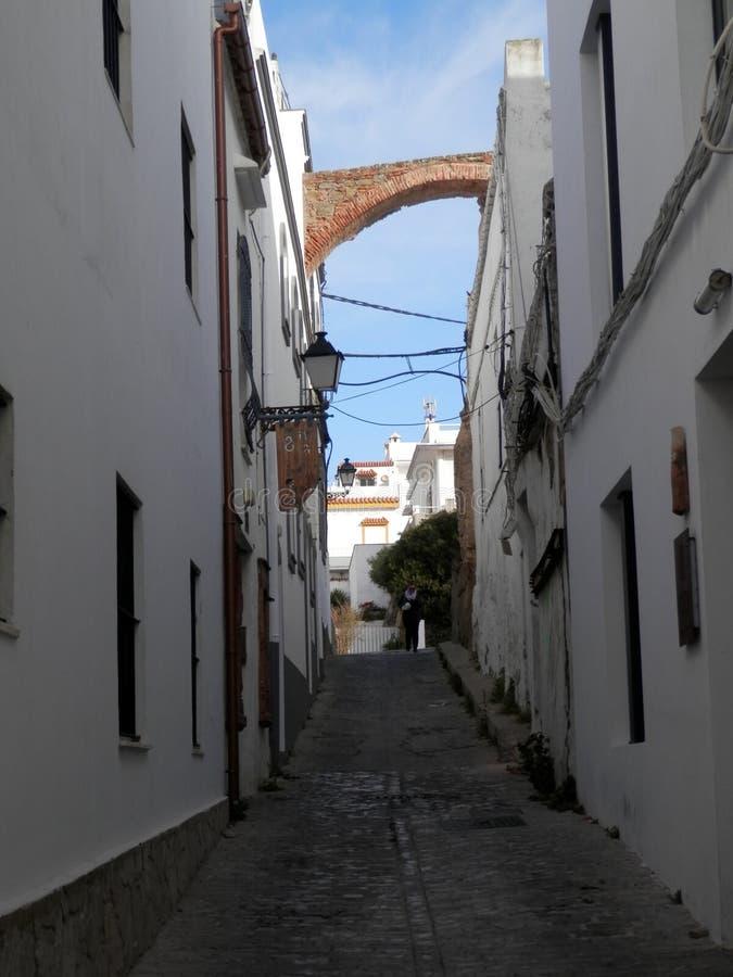 Обмылок старого городища городка в Тарифе стоковое фото