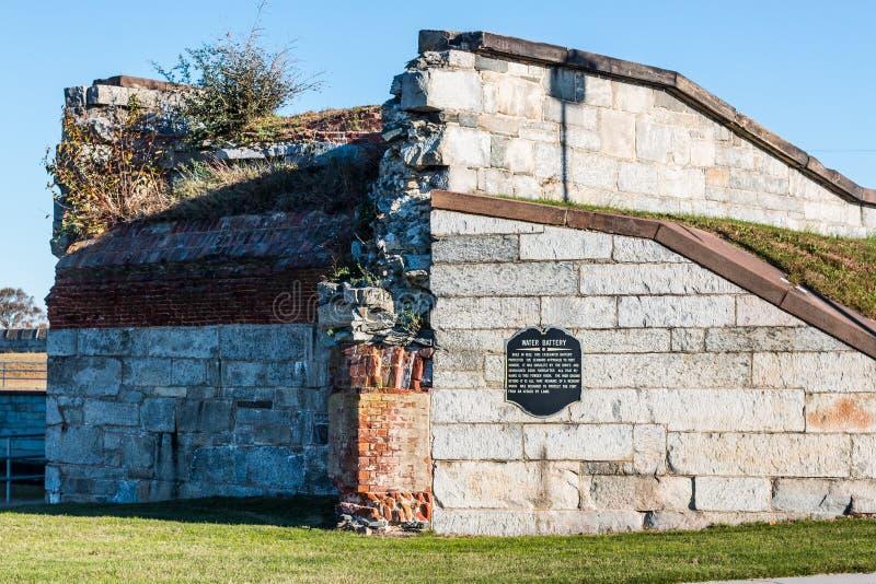 Обмылки бэттера воды на Fort Monroe стоковое изображение