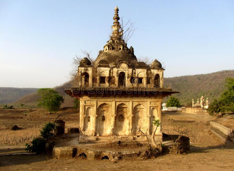 Обмылок старого индусского виска, Pathrigarh, Satna, MP, Индии стоковое фото
