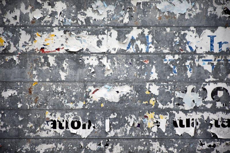 Обнажанная афиша обочины стоковые изображения rf