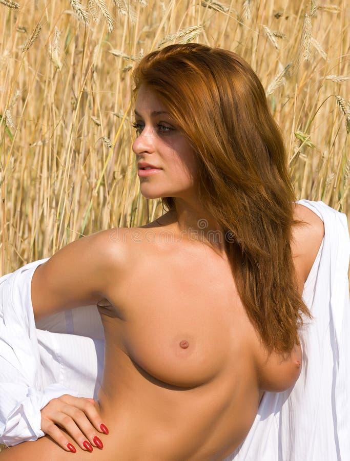 Download Обнажённая девушка в поле. стоковое изображение. изображение насчитывающей естественно - 37929053