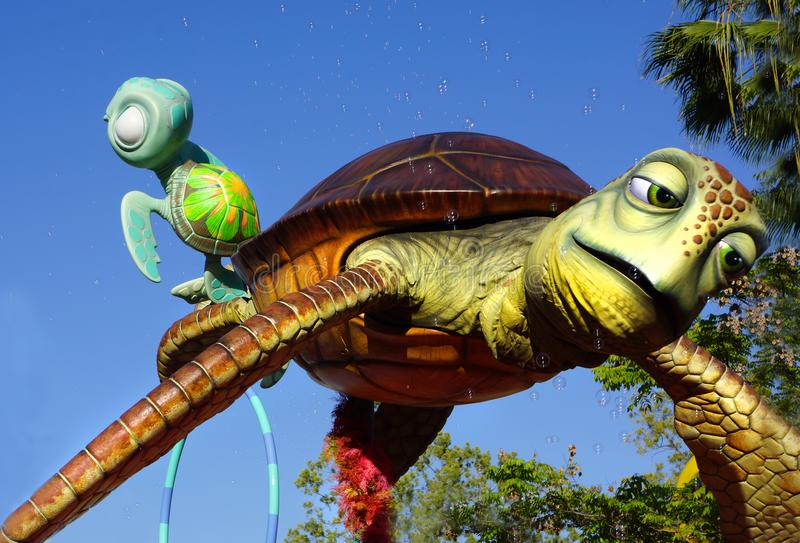 Обнаружение характера Pixar черепахи Nemo стоковая фотография