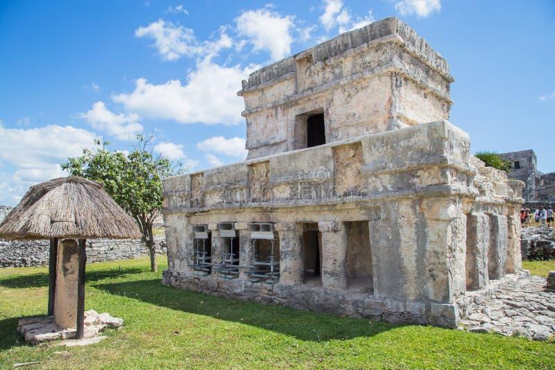 обнаруженный местонахождение майяский полуостров Мексики губит tulum yucatan город старый Место Tulum археологическое Майя Ривьер стоковые изображения rf