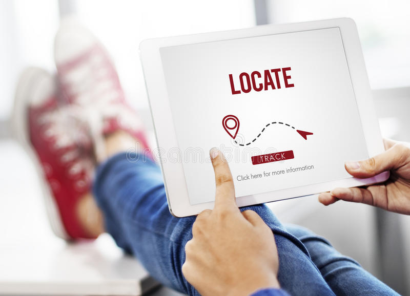 Обнаружьте местонахождение концепцию положения назначения направления положения стоковые фотографии rf
