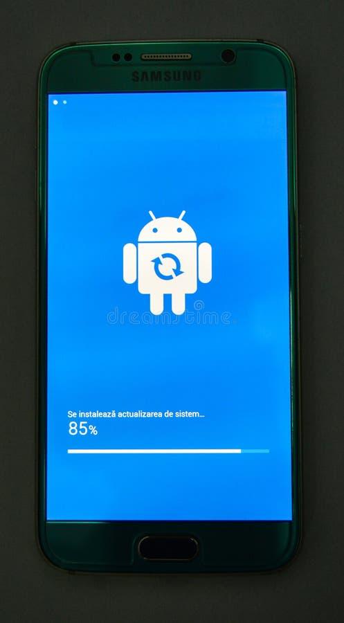 Обновление андроида стоковое изображение rf