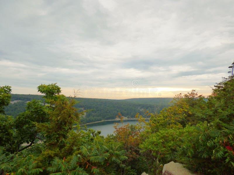 Обозите на озере ` s дьявола стоковое изображение rf