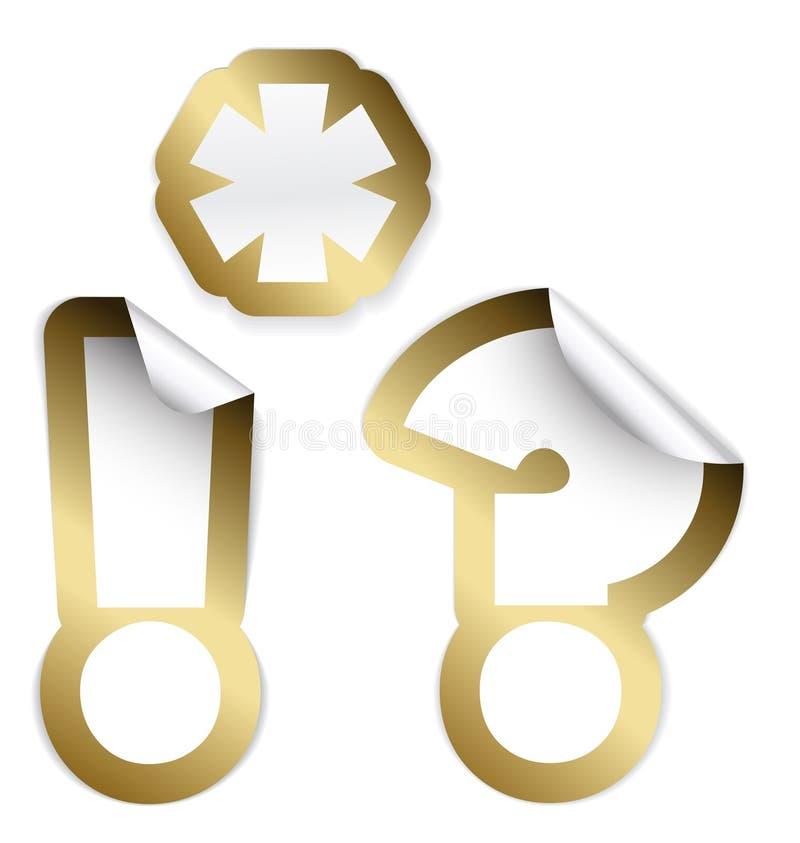 обозначает комплект награды иллюстрация штока