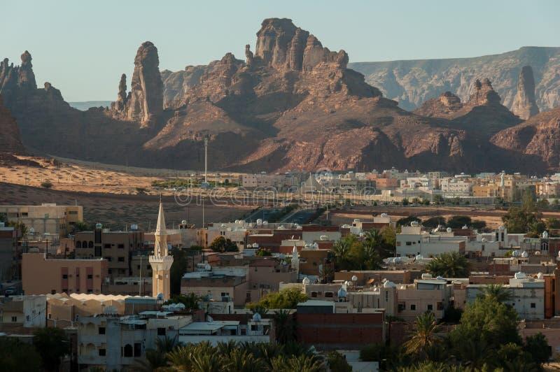 Обозревать город Al Ula, Саудовская Аравия стоковое фото