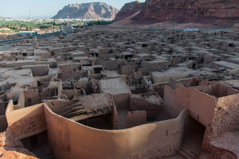 Обозревать старый город Al Ula, Саудовская Аравия стоковое изображение rf