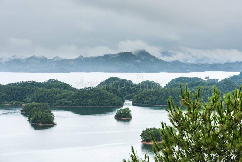 Обозревать тысячу озер острова стоковое фото rf