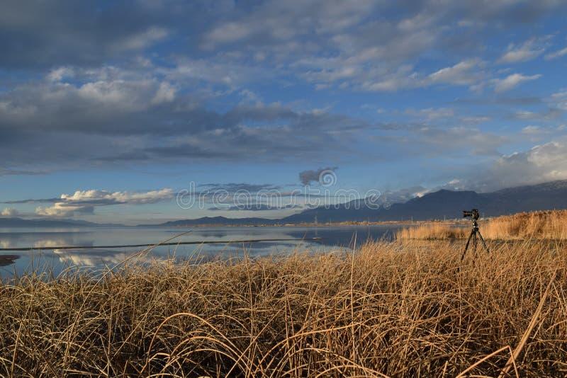 Обозревая озеро Ют стоковые изображения rf