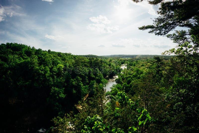 Обозревая парк штата реки вербы в Висконсине 2 стоковое изображение