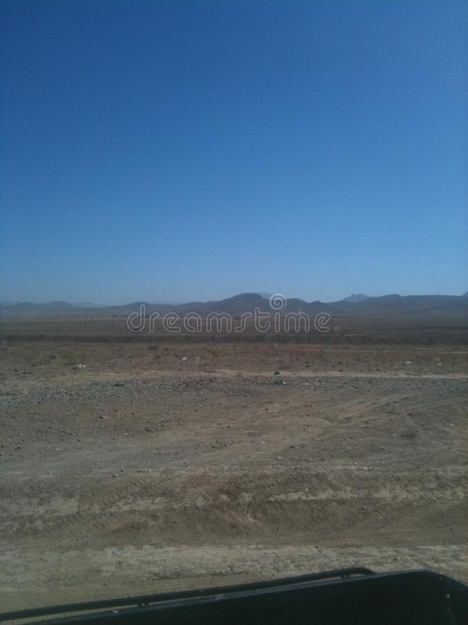 Обоз пустыни Афганистана стоковая фотография rf