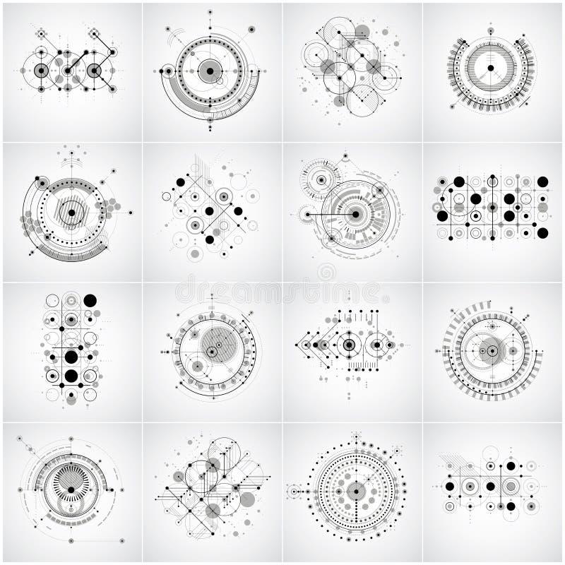 Обои Баухауза ретро, комплект предпосылок вектора искусства сделали usi бесплатная иллюстрация