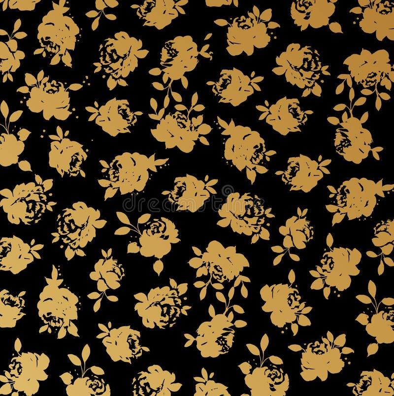 обои вектора черного золота предпосылки розовые иллюстрация штока