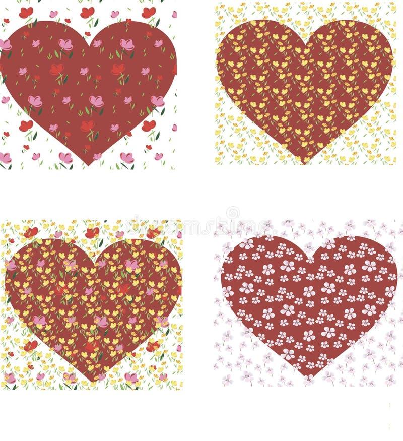 Обои весны с сердцами Справочная информация иллюстрация штока