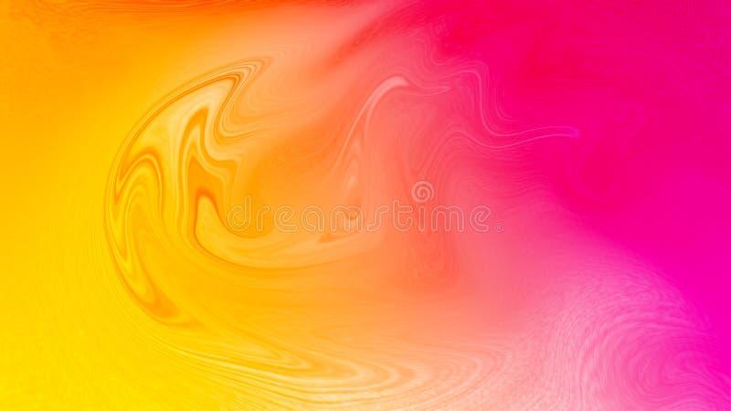 Обои влияния цифров жидкостные абстрактные пропуская розовые желтые стоковые фото