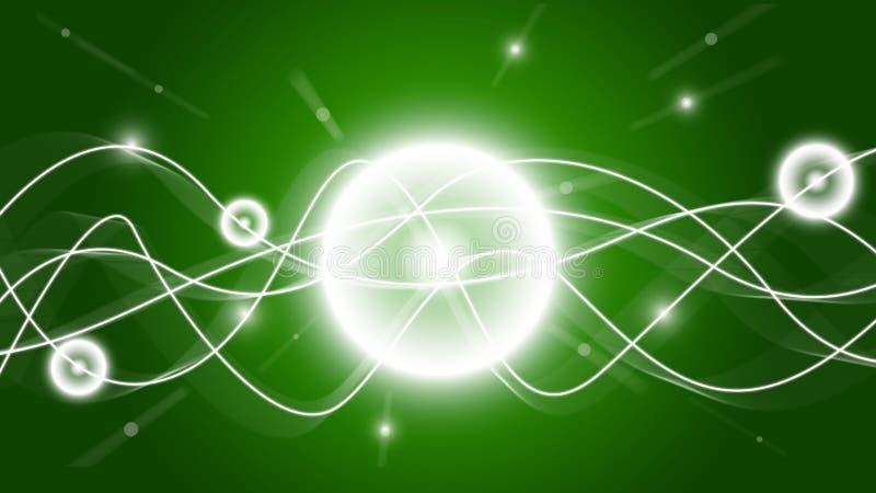 Обои зеленых волн Shine HD иллюстрация вектора