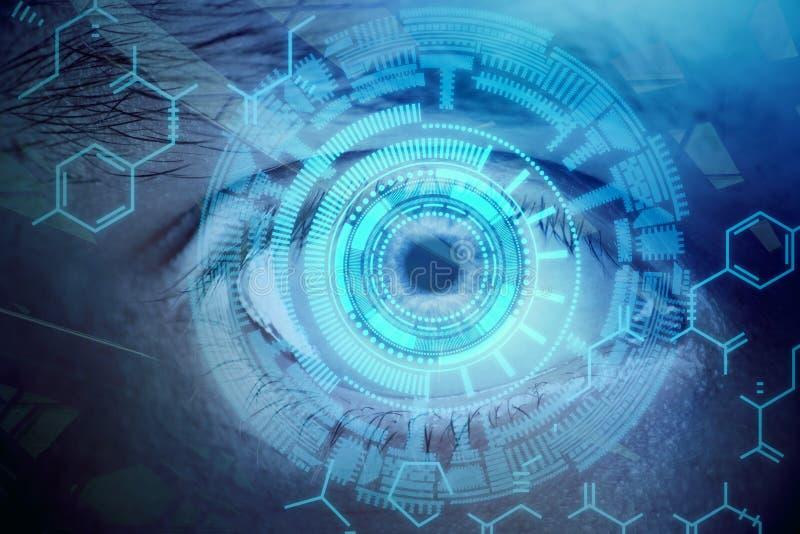 Обои зрения и биометрии бесплатная иллюстрация