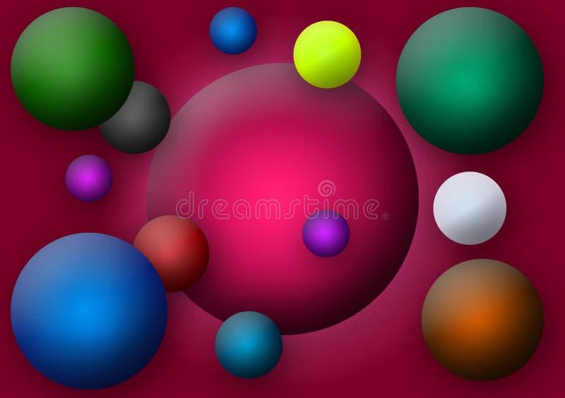 Обои картины круглых шариков покрашенные иллюстрация штока