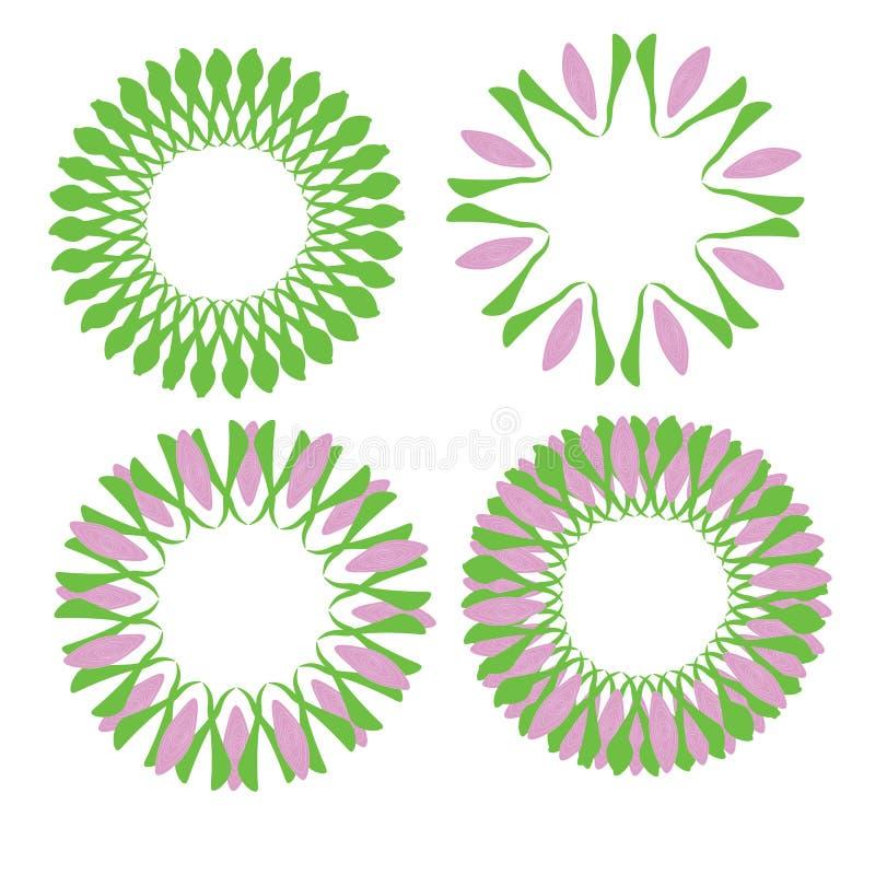Обои конспекта дизайна иллюстрации вектора предпосылки картины ткани плитки крышки цветка флористические бесплатная иллюстрация