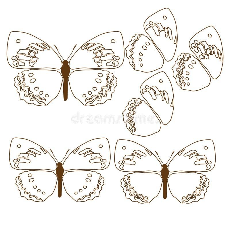 Обои конспекта дизайна иллюстрации предпосылки картины ткани плитки крышки бабочки бесплатная иллюстрация