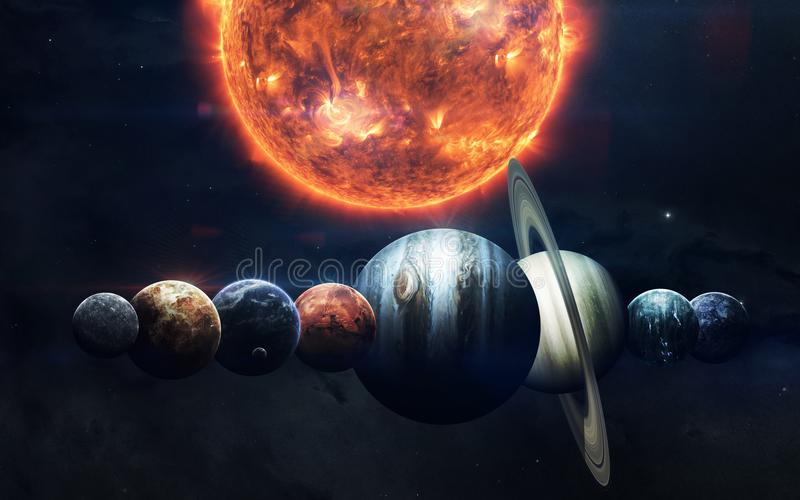 Обои космоса научной фантастики, неимоверно красивые планеты, галактики Элементы этого изображения поставленные NASA стоковые изображения rf
