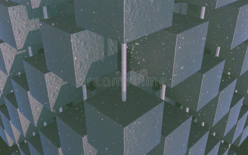 Обои куба темные абстрактные стоковые фото