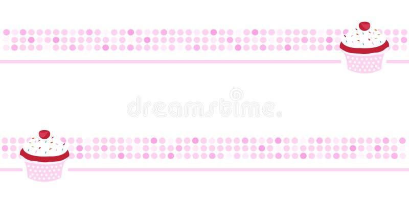 обои пинка пирожня знамени предпосылки иллюстрация штока