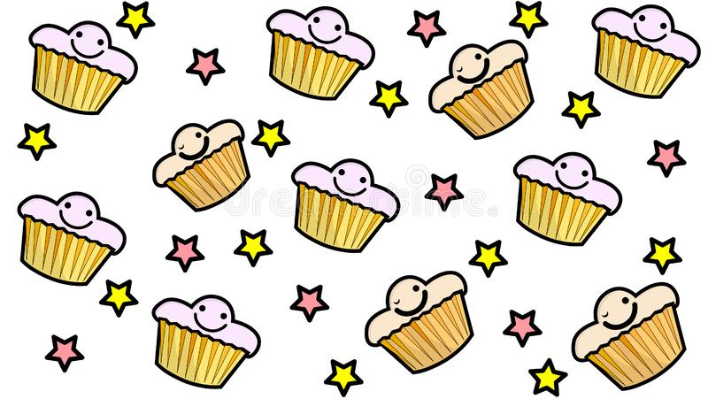 Обои пирожного со звездами иллюстрация штока