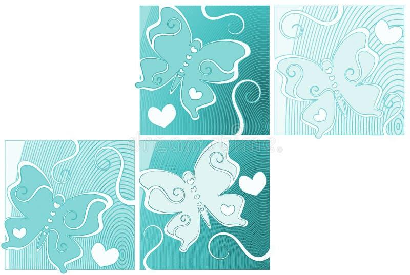 Обои рая бабочек голубого неба иллюстрация штока