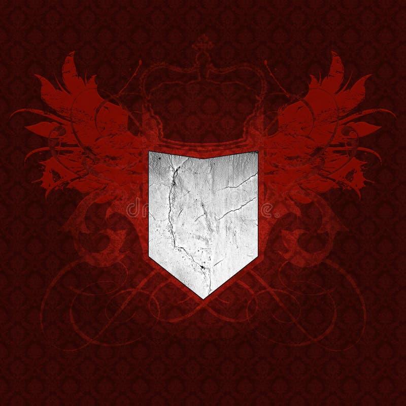 обои сбора винограда heraldry иллюстрация штока
