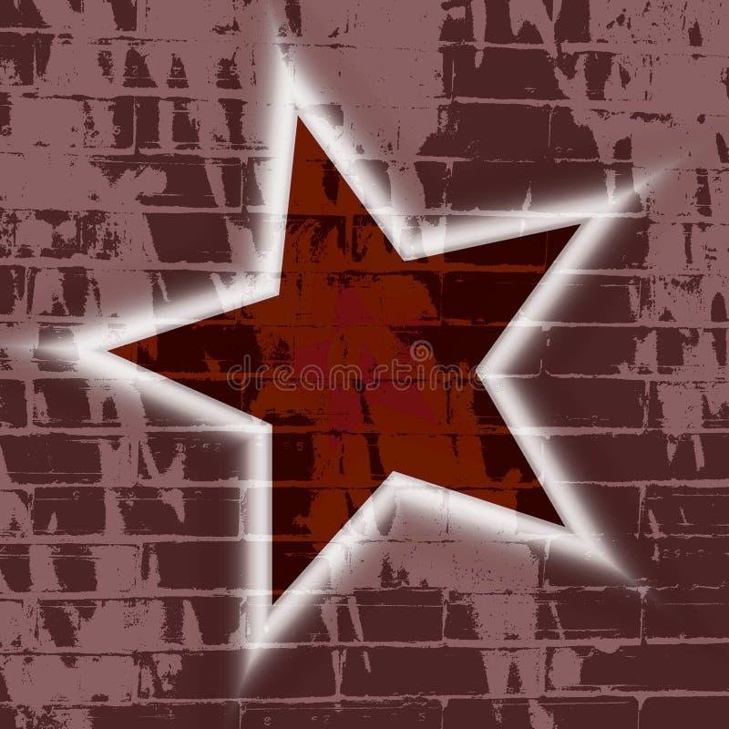 обои стены звезды grunge кирпича предпосылки иллюстрация штока