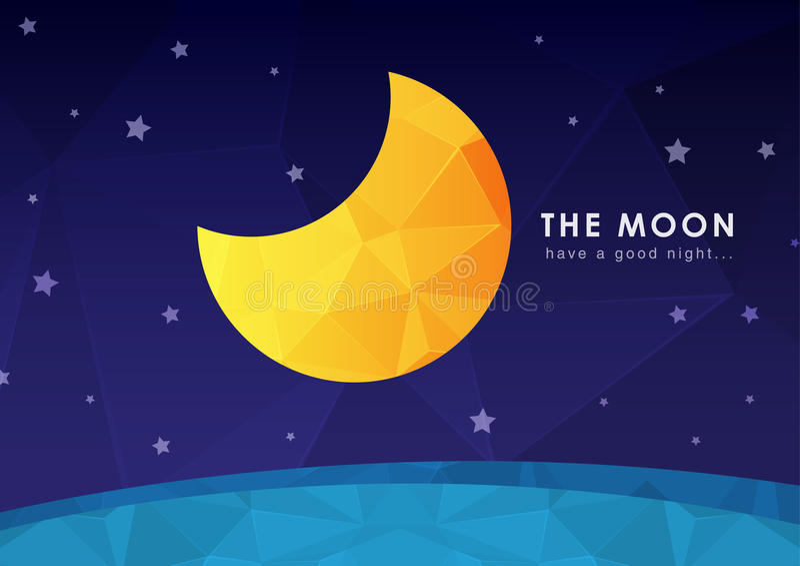 Обои луны с текстурой диаманта пиксела стоковое изображение rf