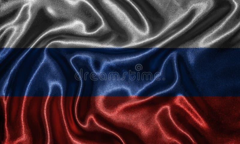 Обои флагом России и развевая флагом тканью стоковые фото